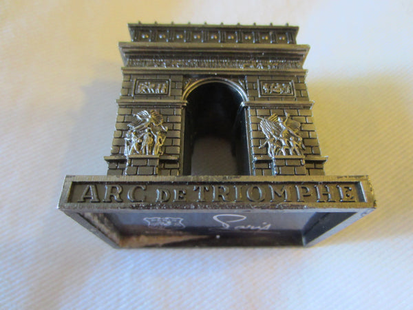 Paris Arc de Triomphe Miniature Souvenir Inscribed Made In France - Designer Unique Finds   - 2