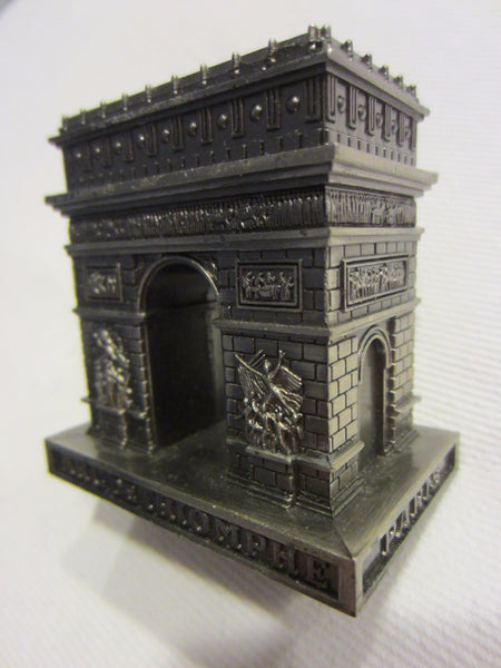 Paris Arc de Triomphe Miniature Souvenir Inscribed Made In France - Designer Unique Finds   - 5
