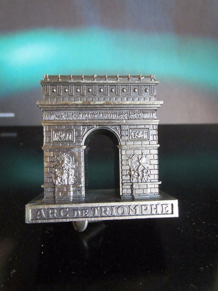Paris Arc de Triomphe Miniature Souvenir Inscribed Made In France - Designer Unique Finds   - 7