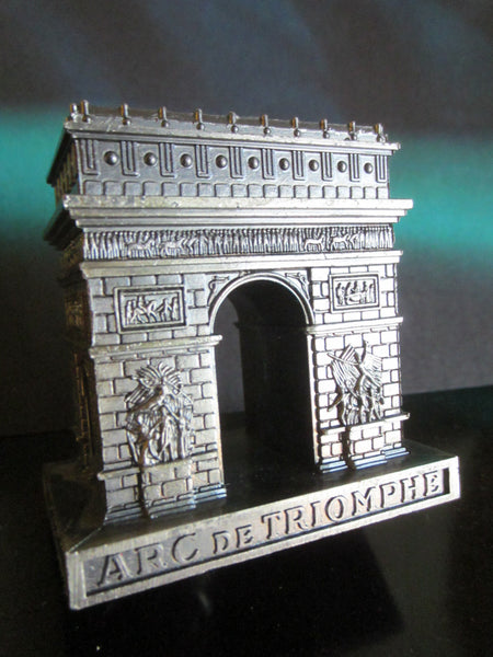 Paris Arc de Triomphe Miniature Souvenir Inscribed Made In France - Designer Unique Finds   - 3