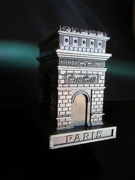 Paris Arc de Triomphe Miniature Souvenir Inscribed Made In France - Designer Unique Finds   - 6