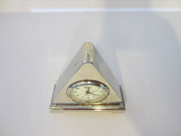Eikone Classic Quartz Miniature Pyramid Style Quartz Clock - Designer Unique Finds   - 1