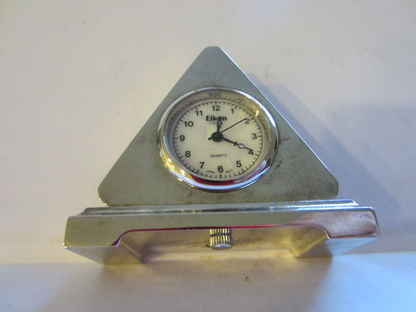 Eikone Classic Quartz Miniature Pyramid Style Quartz Clock - Designer Unique Finds   - 2