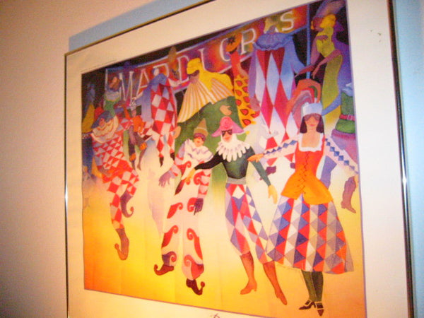 Gloria Parry Walter Pageant of the Masters Mardi Gras Laguna Beach Exhibition Lithograph - Designer Unique Finds