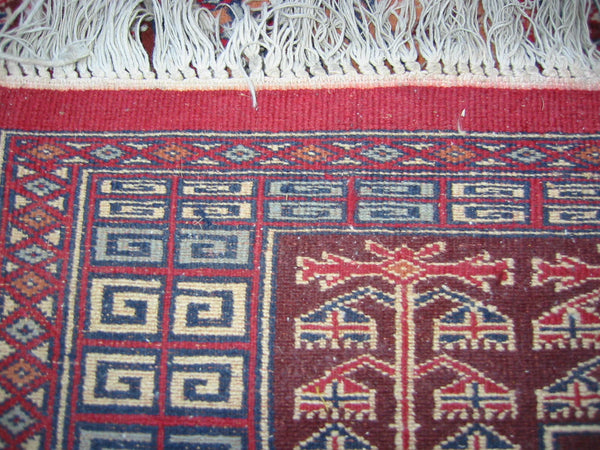 Torkemen Rug Northern Persia Pile of Wool Tribal Art - Designer Unique Finds   - 5