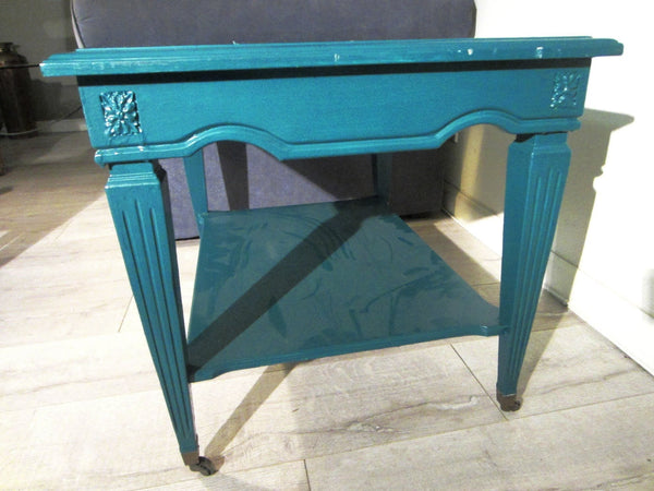 Brandt Rolling Table Italian Marble Top All Marked Deco Medallions - Designer Unique Finds   - 3