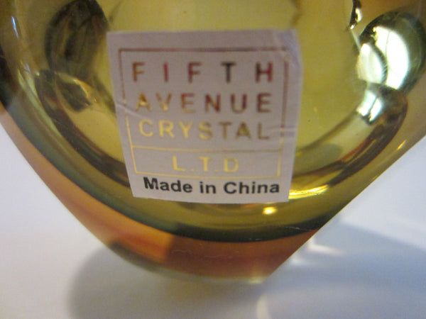 Fifth Avenue Crystal Amber Votive Candle Bowl - Designer Unique Finds   - 2