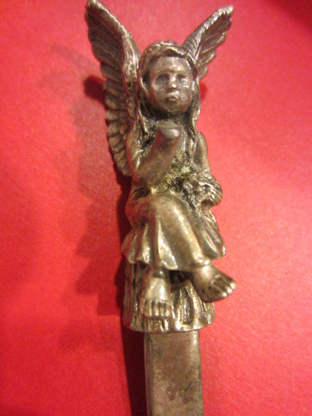 Rococo Style Angel W Wings White Metal Letter Opener - Designer Unique Finds   - 4