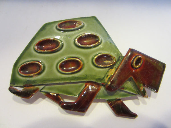 Abstract Turtle Brooch Signed ART - Designer Unique Finds   - 3