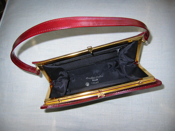 England Naturalizer Leather Purse Gold Frame - Designer Unique Finds   - 5