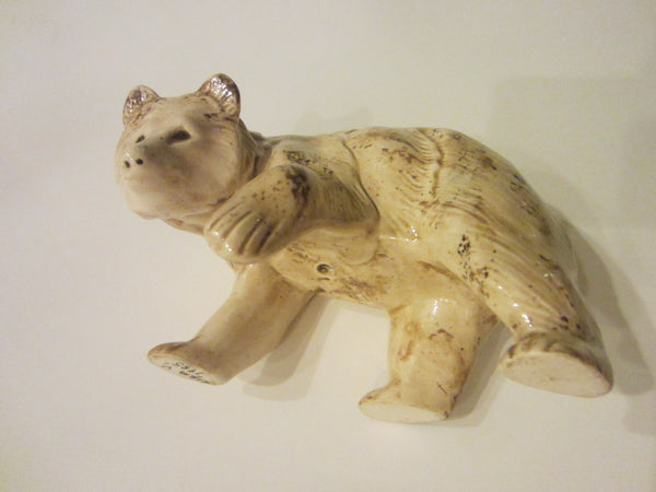 Grisly Bear Ceramic Art Signed by Lisa V in 1985 - Designer Unique Finds