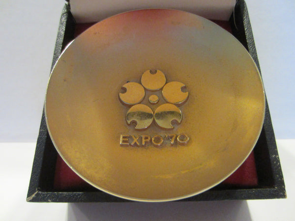 Olympic Expo 70 Gold Plated Japan Cup Sport Memorabilia - Designer Unique Finds