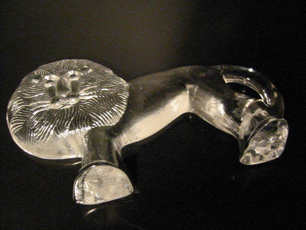 Erik Hoglund Mid Century Swedish Crystal Lion - Designer Unique Finds   - 5