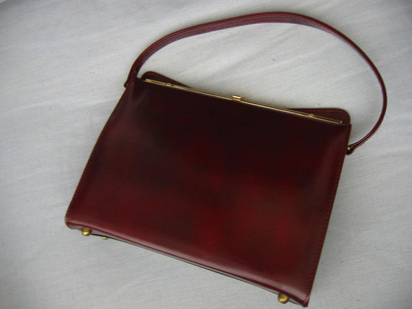 England Naturalizer Leather Purse Gold Frame - Designer Unique Finds   - 4