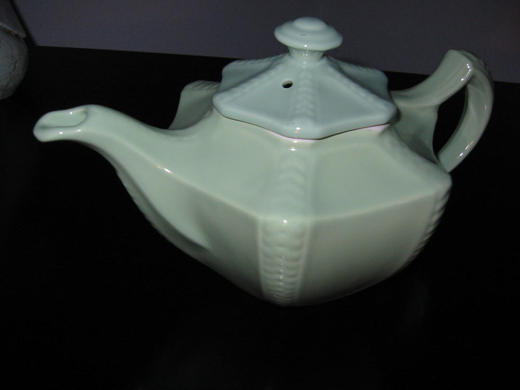 Hall USA Mint Green Teapot Pottery - Designer Unique Finds