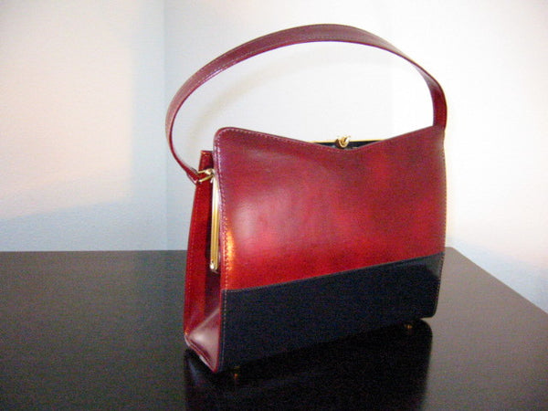 England Naturalizer Leather Purse Gold Frame - Designer Unique Finds   - 1