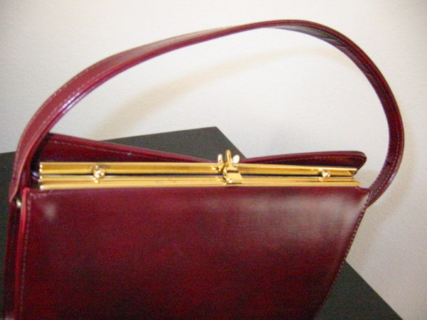 England Naturalizer Leather Purse Gold Frame - Designer Unique Finds   - 3