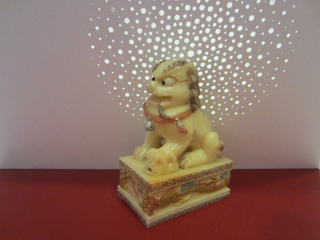 Chinese Resin Foo Dog - Designer Unique Finds   - 1