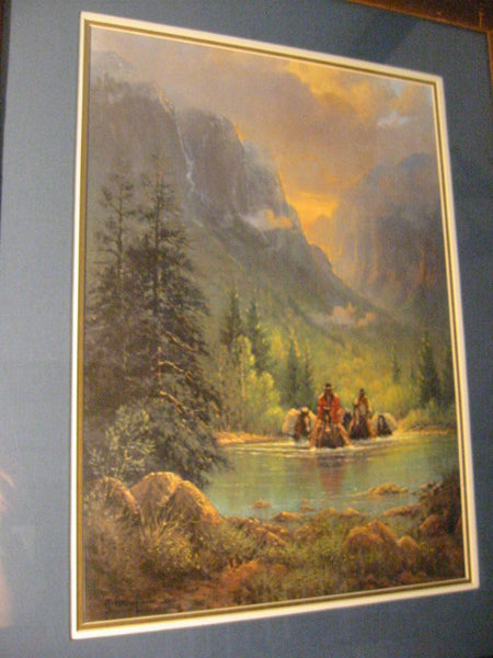 G Harvey Signed Lithograph Limited Edition With Title Among The Silence of Canyon Echoes - Designer Unique Finds