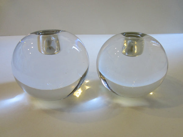 Kristaluxus Globe Form Modern Glass Votive Candle Holders - Designer Unique Finds