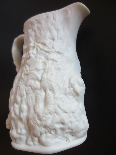 Portmeirion Parian England Bisque Creamer High Relief Detailing - Designer Unique Finds