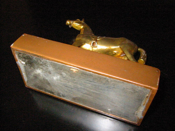 Jenning Bros Bronze Horse Art Deco Stand Marked JB - Designer Unique Finds   - 2