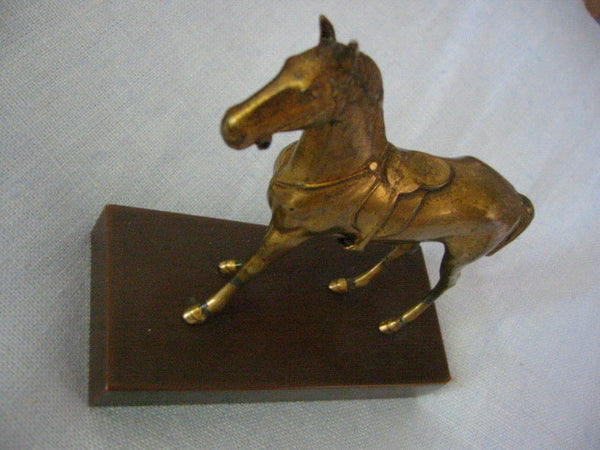 Jenning Bros Bronze Horse Art Deco Stand Marked JB - Designer Unique Finds   - 4