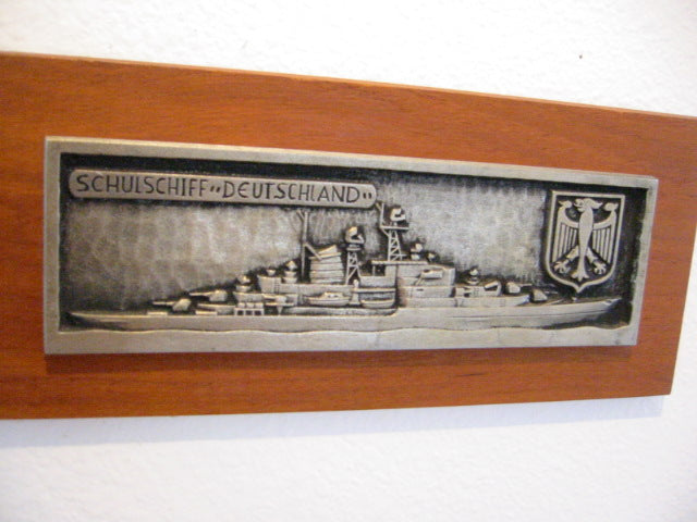 Schulschiff Deutschland Plaque Blohm Voss Hamburg WG Wall Decor - Designer Unique Finds