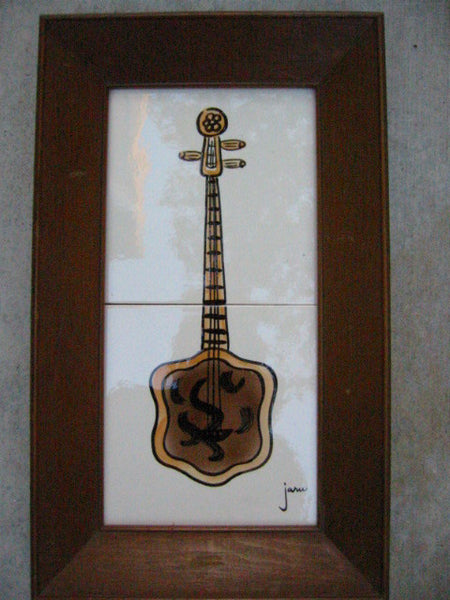 California Decorative Original By Jaru Hand Decorated Guitar Banjo Tile Arts - Designer Unique Finds   - 2