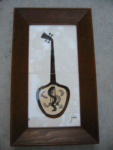 California Decorative Original By Jaru Hand Works Guitar Banjo Tile Arts - Designer Unique Finds