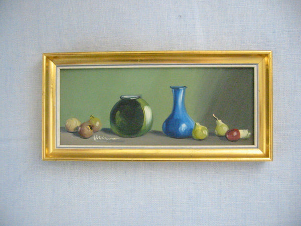Still Life Impressionist Fruits Oil On Board Signed By Spanish Artist - Designer Unique Finds