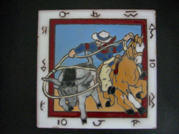Christine Fitzgerald Designed Tile Western Scene By Mag Mor Studio - Designer Unique Finds   - 3