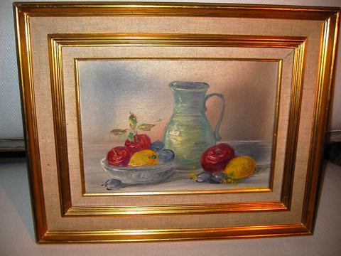 Leo Ritter Austrian Still Life Fruits Impressionist Signed Oil On Canvas - Designer Unique Finds