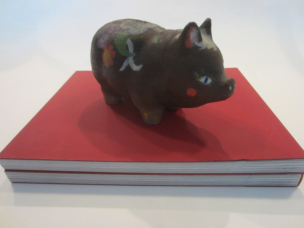 Wenden New York Hand Painted Mid Century Modern Pig With Signature