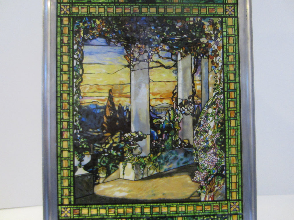 Stained Glass Garden Window With Panoramic View - Designer Unique Finds