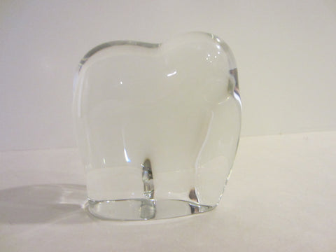 Abstract Baccarat Crystal Elephant Signature France Art