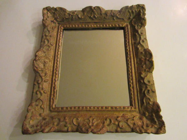 Kullicke Collection Provencal Style Mirror Gesso Composition - Designer Unique Finds