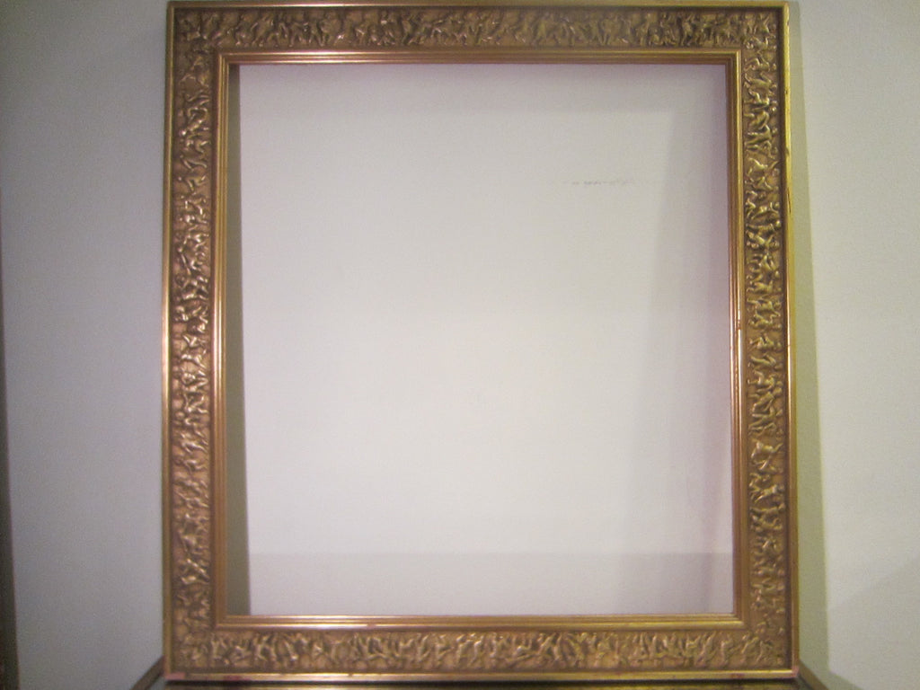 Ornamental Raised Figures Gold Leaf Frame – Designer Unique Finds