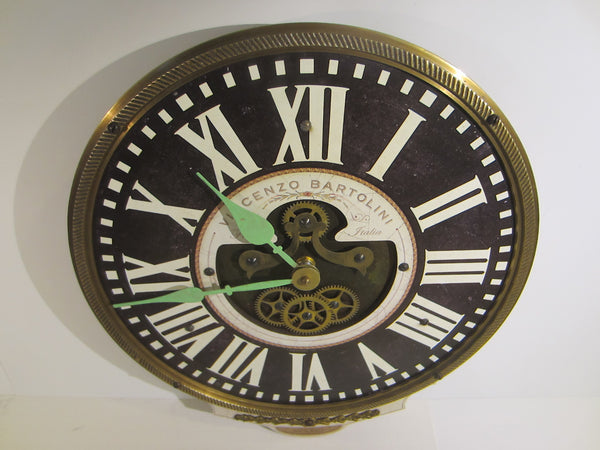 Timeworks Clock Vincenzo Bartolini Firenze Italy Quartz With Pendulum - Designer Unique Finds