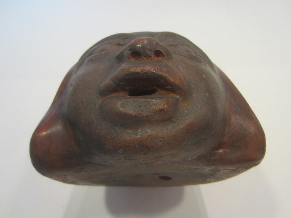 Terracotta Portrait Of Chile Ceramic Figure Head Artist Signed