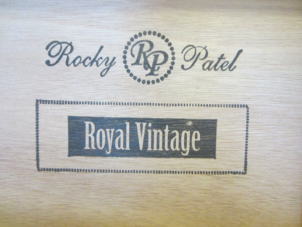 Rocky Patel Royal Vintage Toro Humidor Black Box Hand Made In Honduras