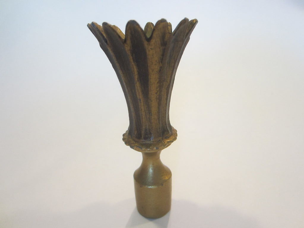 Architectural Vintage Metal Crown Lamp Finial Accessory