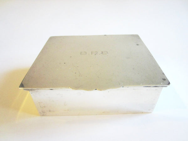 Cartier Sterling Humidor Cigar Box Monogram Etched Marks
