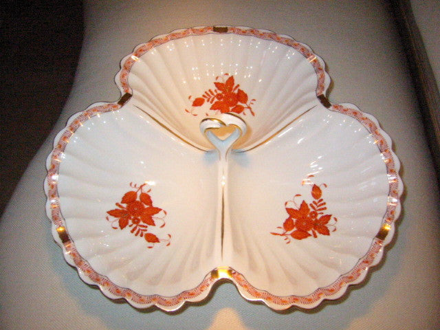 Herend Chinese Bouquet Clamshell Platter Open Salt Pepper - Designer Unique Finds   - 1
