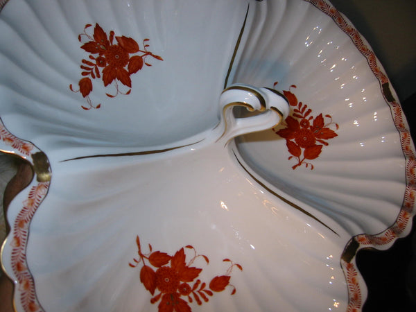 Herend Chinese Bouquet Clamshell Platter Open Salt Pepper - Designer Unique Finds   - 7