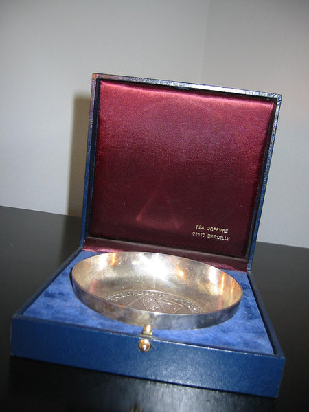 French Silver Bowl Escorteur D Escadre Du Chayla Maritime Hallmarks - Designer Unique Finds   - 2