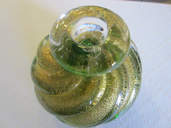 Archimede Seguso Murano Spiral Bottle Style Paperweight - Designer Unique Finds   - 1