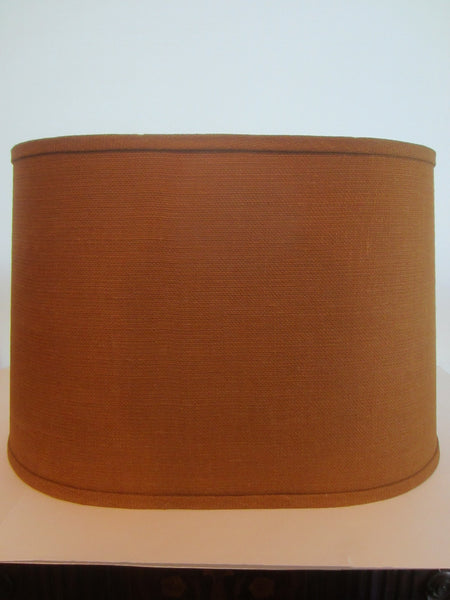 A Burlap Lamp Shade Dana Creath Neutral Drum Design