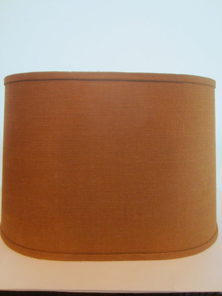 A Natural Burlap Large Drum Lamp Shade By Dana Creath Designs