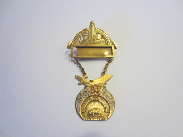 Commemorative Los Angeles California Imperial 1950 Council Session Brooch Medal